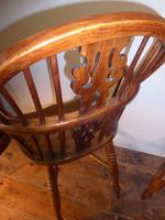 Matched Pair of Yew Windsor Chairs (11 of 13)