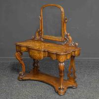 Mid Victorian Walnut Dressing Table