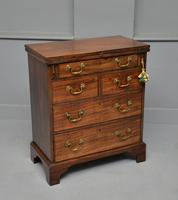 Small Georgian Mahogany Bachelors Writing Chest of Drawers with Provenance (24 of 24)