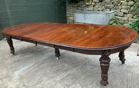 Impressive Victorian Mahogany Extending Dining Table - Seats 12