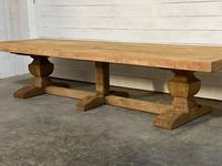 Enormous French Bleached Oak Farmhouse Dining Table (26 of 38)
