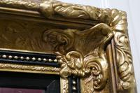 Rectangular Gilt and Black Rococo Wall Mirror (5 of 6)