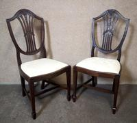 Set of Eight '6+2' Mahogany Dining Chairs in the Hepplewhite Style (6 of 15)