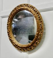 Carved Convex Gilt Wall Mirror (3 of 4)