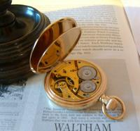 Antique Pocket Watch 1903 Special Waltham 10ct Rose Gold Filled Fwo (9 of 12)