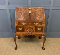 Very Good Queen Anne Style Burr Walnut Bureau (3 of 18)