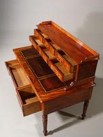 Beautifully Figured Mid 19th Century Mahogany Writing Desk (3 of 6)