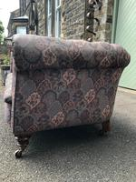 Antique English Upholstered Chesterfield Sofa (5 of 12)