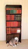 Oak Art Deco Open Bookcase (6 of 10)