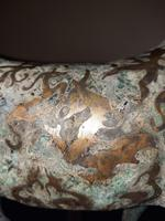 Chinese Archaistic Silver / Gold Coloured Inlaid Bronze Mythical Qilin (8 of 15)