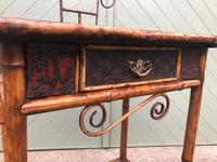 Antique Lacquered Bamboo Desk (2 of 11)