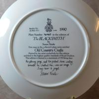 "Royal Doulton ""The Blacksmith"" Limited Edition Plate (2 of 2)"