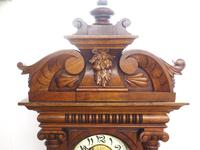Wow! Antique German Spring Driven Quarter Striking Ting Tang 8- day Vienna Wall Clock (10 of 14)