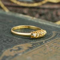 The Antique 1921 Old Cut Five Diamond Ring (3 of 8)