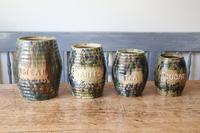 Scottish Pottery Slipware Barrel Storage Jars x4 (5 of 35)
