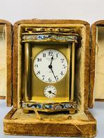 Miniature Carriage Clock 19th Century (2 of 8)