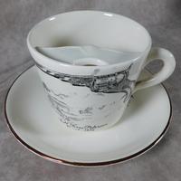 "Gray's Pottery ""Colt Texas Paterson""Moustache Cup & Saucer"