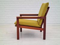 "Danish Design by Illum Wikkelsø Armchair ""Capella"" Series, 70s, Teak, Renovated-reupholstered (3 of 13)"