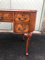 Antique Walnut & Burr Walnut Kidney Shaped Desk (11 of 13)