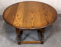 Wood Bros Old Charm Light Oak Drop Leaf Coffee Table (2 of 7)