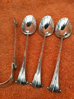 Antique Sterling Silver Hallmarked 1887 Onslow  6 x Tea Spoons & Tongs ,  Josiah Williams & Co, London (3 of 10)