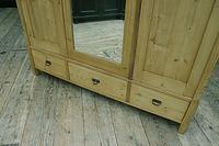 Superb! Old Triple Door 'Knock Down' Pine Combination Wardrobe - We Deliver! (9 of 11)