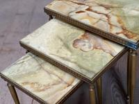 Nest 3 Onyx & Brass Tables (8 of 16)