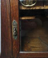 Antique Art Nouveau Oak Smokers Cabinet (10 of 13)