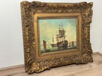 Seascape Oil Painting First Rate Man O War Ships Portsmouth Harbour Signed Brian Coole (35 of 39)