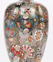 Oriental, Chinese / Japanese Exceptional Silver Metal Cloisonne Vase (16 of 25)