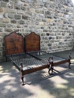 Pair of Antique Mahogany Single Beds (2 of 10)