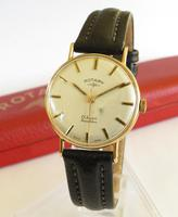 Gents 9ct Gold Rotary Wrist Watch, 1970