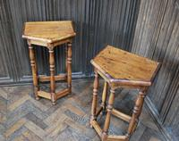 Pair of Turned Oak Bedside Tables (3 of 5)