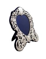 """Antique Victorian Sterling Silver 8 1/2"""" Photo Frame 1899 (9 of 9)"""