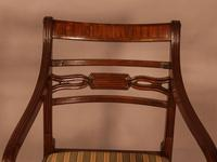 Rare Set of 10 Regency Period Mahogany Dining Chairs (14 of 17)