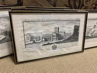 Set of 9 Framed Prints of Historic Castles & Abbeys (2 of 10)