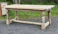 Rustic Bleached Oak French Farmhouse Dining Table (2 of 34)