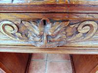 Country Oak Lions Head Pedestal Desk 1860 (5 of 12)