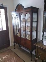 Double Fronted Edwardian Glazed Display Cabinet (2 of 6)