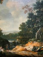 Exceptional Large 1700s Old Master Giltwood Landscape Oil on Canvas Painting (8 of 17)