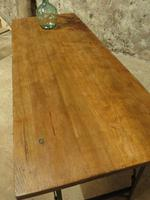Industrial Vintage Folding Trestle Dining Table with Metal Legs & Reclaimed Top (6 of 17)