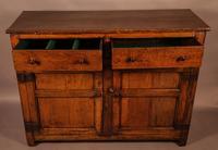 Small Georgian Oak Serving Dresser (5 of 9)