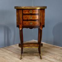 Inlaid French 3 Drawer Chest c.1900 (4 of 8)
