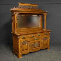 Late Victorian Mahogany Sideboard (17 of 19)