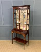Inlaid Mahogany Display Cabinet by Shapland and Petter (21 of 21)