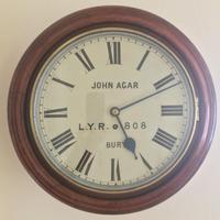 Eight Day Rare High Quality Lancs / Yorks Railway Clock (12 of 12)