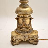 Pair of Antique Italian Silver Gilt Floor Lamps (3 of 12)