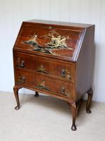 Walnut Chinoiserie Bureau (8 of 10)