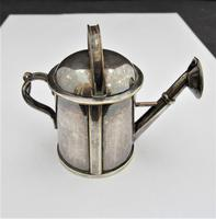 Victorian, Epns Novelty Watering Can Scent/perfume Bottle, C1900 (9 of 9)