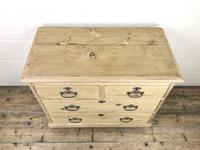 Small Antique Pine Chest of Drawers (2 of 9)